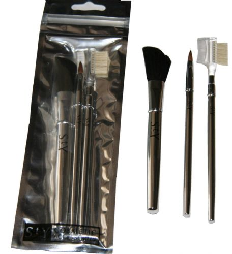 24 x S.T.Y. Designs 3 Piece Brush Set | Blusher, Lip & Brow | = 72 brushes